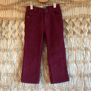 Old Navy boys maroon corduroy pants size 2T NWOT